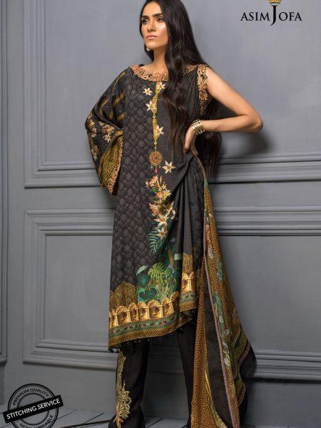Asim Jofa Raw Silk Collection Ajr-03