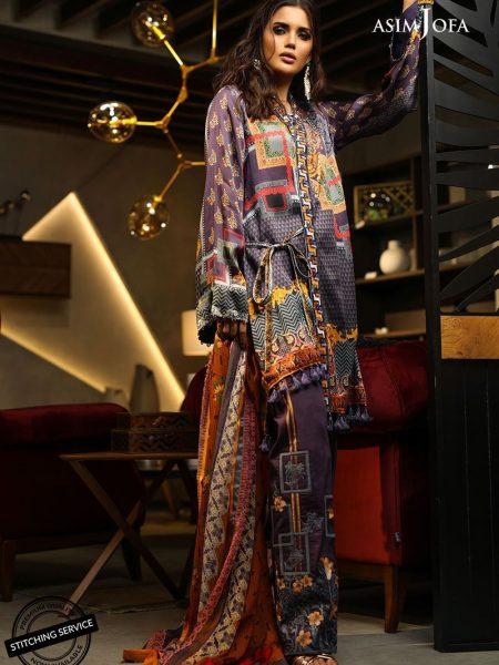 Asim Jofa Charmeuse Silk Collection Ajcs-03