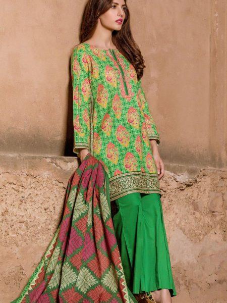 Zeen Woman Phulkari - Stitched WL386008-Basil