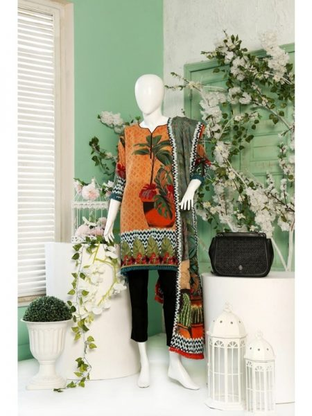 Winter Collection 2018 Tropical Trip Unstitched Suit By Dimity
