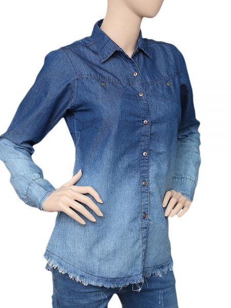 Women's Denim Shirt - Light Blue