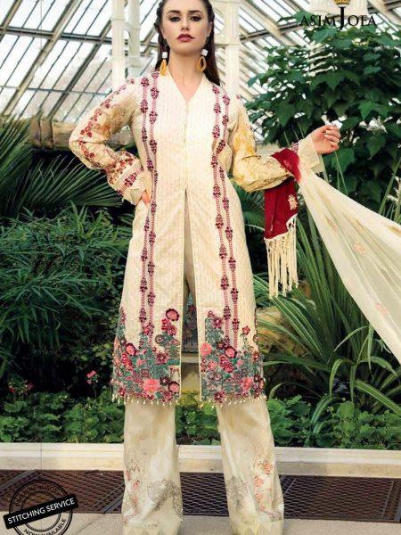 Asim Jofa Luxury Lawn 19 Ajll-11b