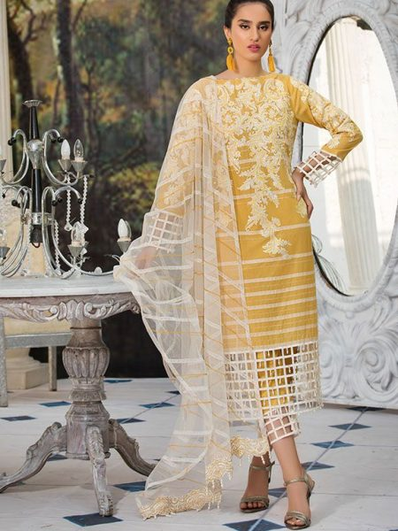 Motifz 2217-SEQUINNED-GRID EMBROIDERED LAWN UNSTITCHED