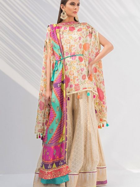 Sania Maskatiya Box cut top with dupatta