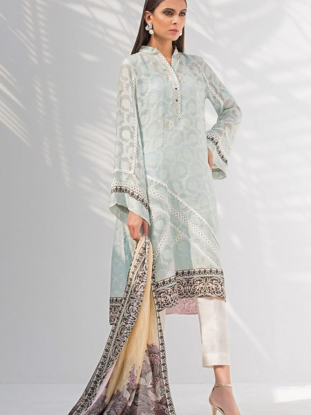 Sania Maskatiya Cotton net self print shirt