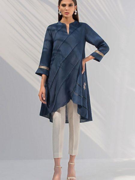 Sania Maskatiya Overlapped linen shirt