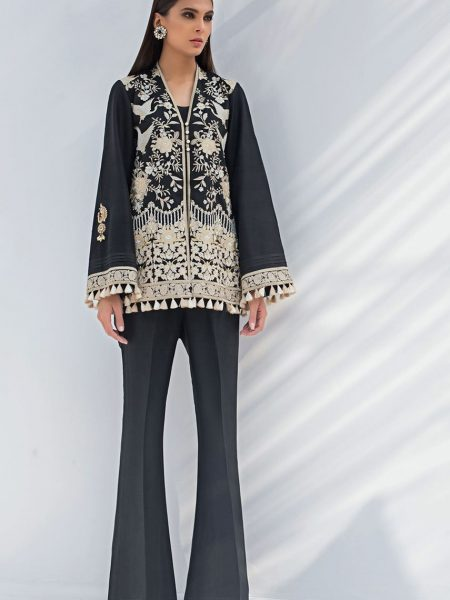 Sania Maskatiya Short front open jacket