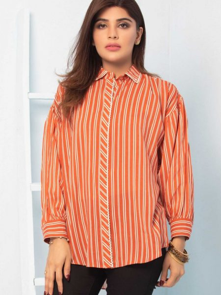 Zeen Woman Spring Summer Collection Solid Stripes Shirt