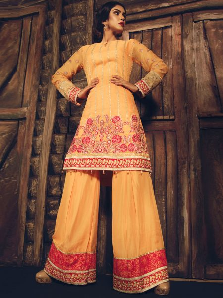 Artimmix CHIFFON EMBROIDERED SUIT AR02190