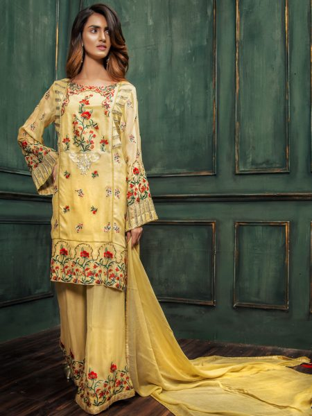 Artimmix CHIFFON EMBROIDERED SUIT AR02252