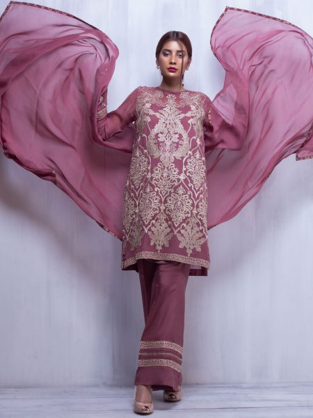 Artimmix CHIFFON EMBROIDERED SUIT AR02289