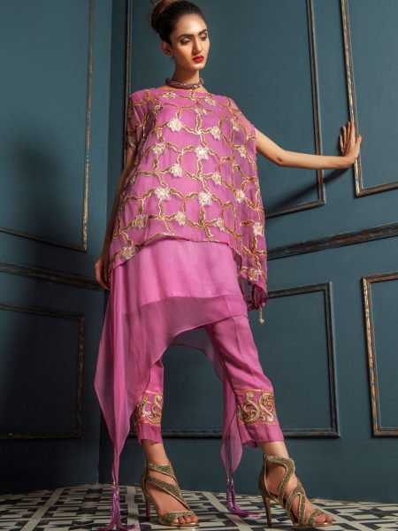 Artimmix CHIFFON EMBROIDERED SUIT AR02294