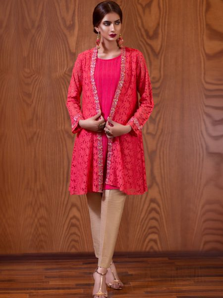 Artimmix Net Embroidred Gown With Inner Shirt AR02316