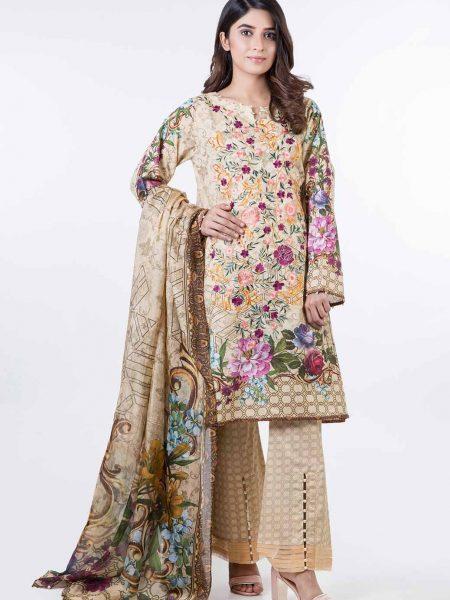 Bonanza Satrangi Pret Collection Beige-Jacquard-Suit SPK193P009