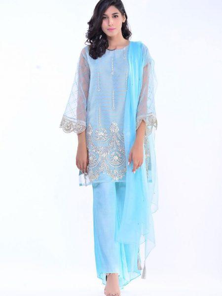 Bonanza Satrangi Pret Collection L-Ferozi-Organza Tissue-Suit LMSKD3P015