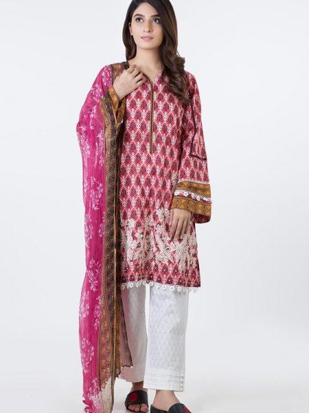 Bonanza Satrangi Pret Collection Pink-Cambric-Suit SUPK3P