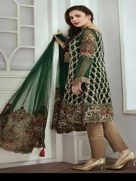 Complete Chiffon Suit With Net-Duppata