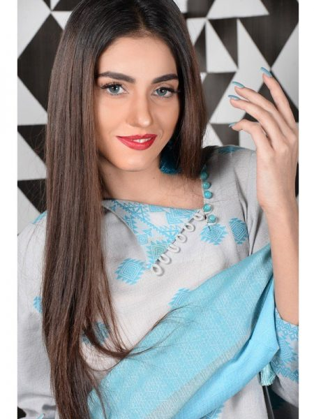 Eioquent Stripes Grey - Classic Hand Weave Unstitched Collection by Ala Rasi