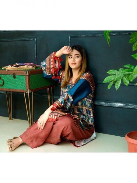 Eshgham Silk Collection Soghat-e-Misir YN-05 By Yusra Ansari