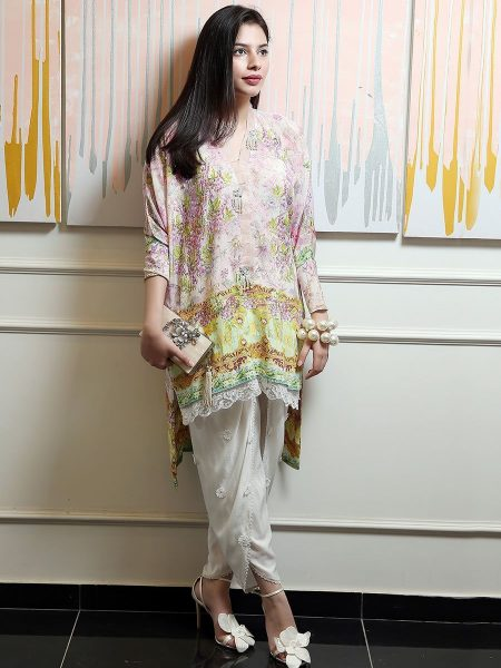 Farah Talib Aziz Luxe Pret Lilac savannah tunic FTA-CLP-03