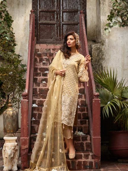 Gulmohar Banaras ki Bano Unstitched Luxury Embroidered Collection BKB-01