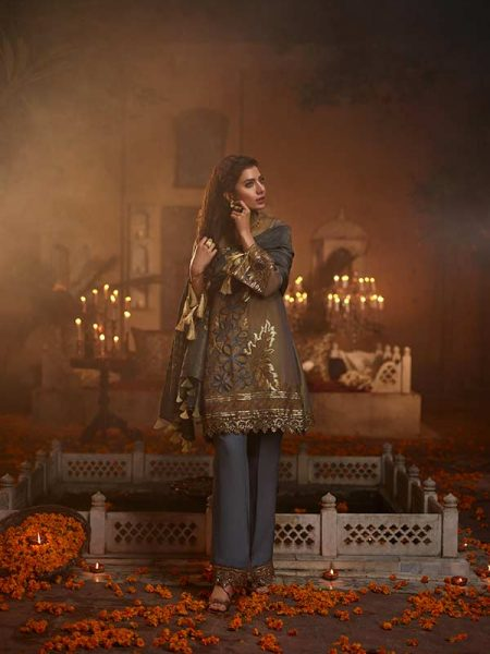 Gulmohar Banaras ki Bano Unstitched Luxury Embroidered Collection BKB-08