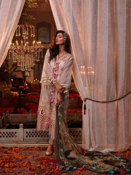 Gulmohar Banaras ki Bano Unstitched Luxury Embroidered Collection BKB-09