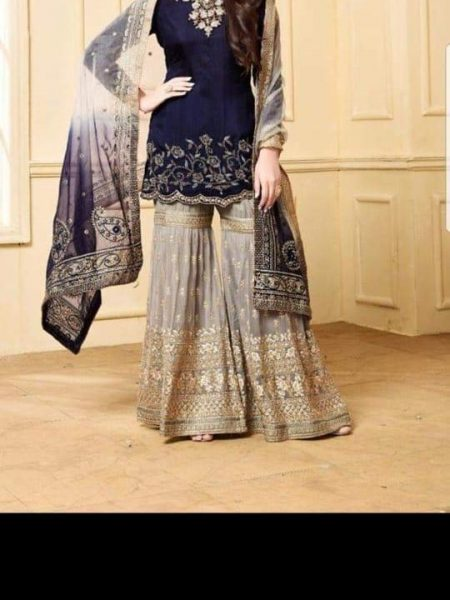 Indian Chiffon Embroidery Suit