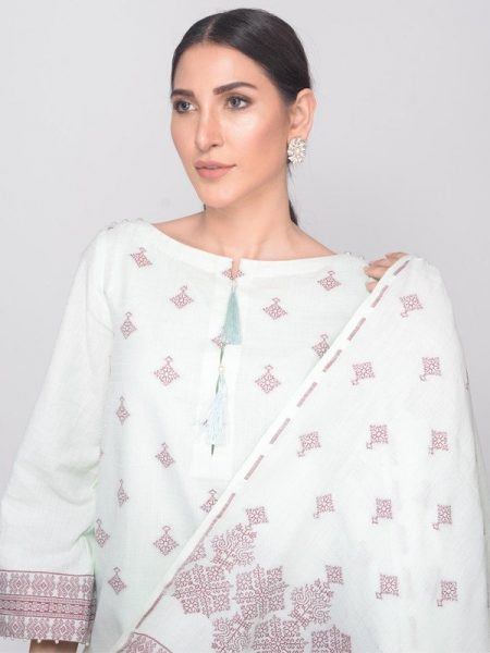 Prompusflou Meadow Mist - Classic Hand Weave Unstitched Collection by Ala Rasi