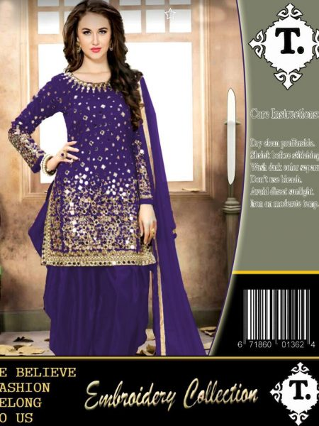 PURPLE BEAUTY IN NET EMBROIDERED SUIT