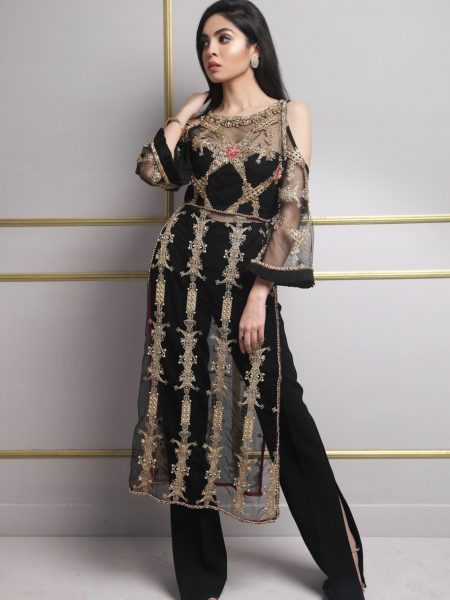 SFK Luxury Pret Black Daisy SFK-015