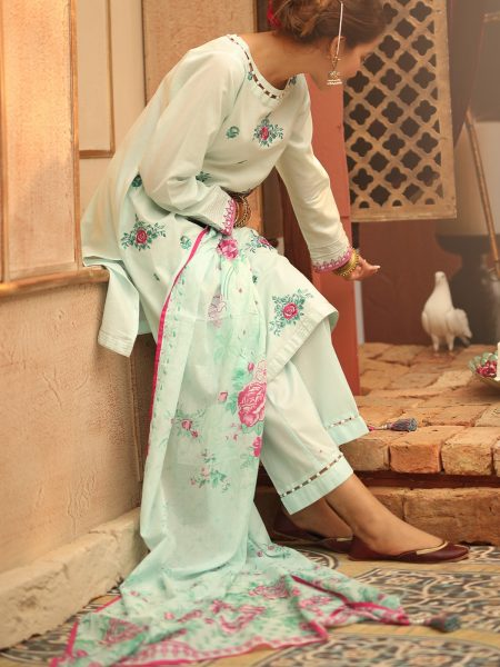 Tarzz Eid-ul-fitar-Collection 2019 Heritage Blue UM57D19-07-aqua