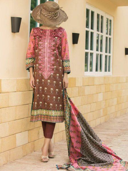 VS Textile Ayesha Alishba Emb Lawn Volume-1 D-08B