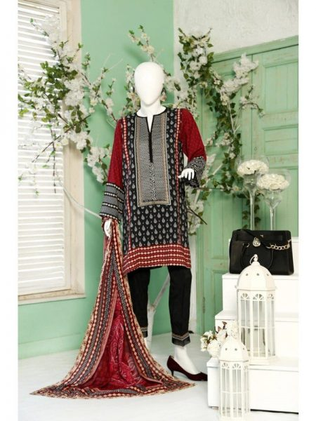 Winter Collection 2018 Traditional Paisley Unstitched Suit By Dimity