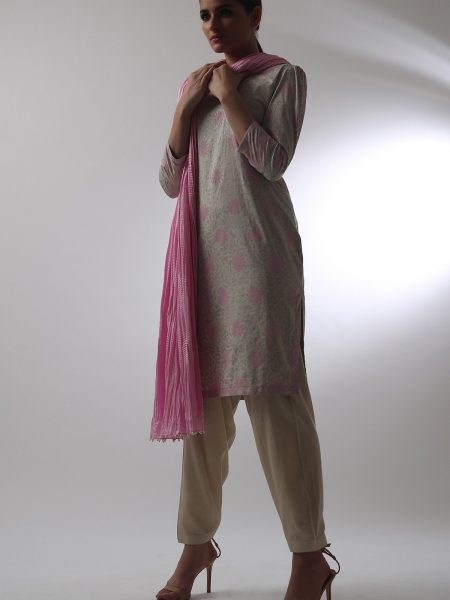 Alkaram Studio Catalyst Collection Printed Cambric Shirt C-22G-19-2-Pink
