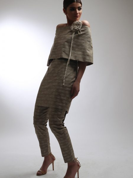 Alkaram Studio Catalyst Collection Printed Cambric Shirt C-5A-19-2-Beige