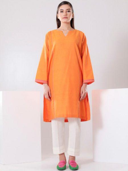 Chapter 2 Handwoven Orange Kurta