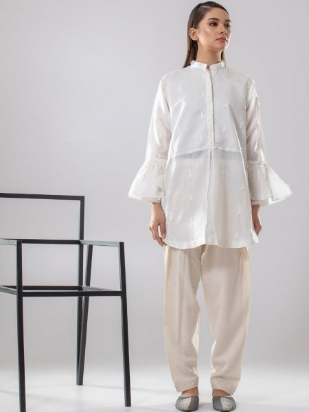 Chapter 2 Handwoven Shalwar C2BH18305-Off-White