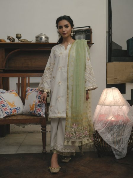 Ethnic by Outfitters Choti Eid Boutique suit (Shirt + Dupatta) WTB291657-10204731-EH-153