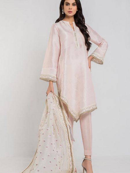 Sania Maskatiya Asymmetrical raw silk with dupatta PD4880