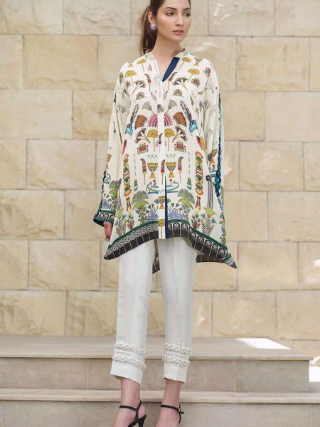 Sania Maskatiya Digitally printed crepe shirt PD4947