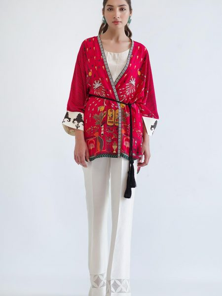 Sania Maskatiya Digitally printed jacket with slip PD5025