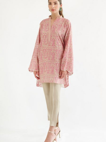 Sania Maskatiya Embroidered khadi silk shirt PD4993