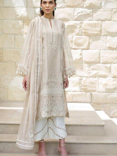 Sania Maskatiya Embroidered organza dupatta shirt PD5009