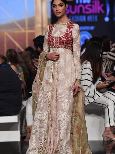 Sania Maskatiya Khadi silk embroidered shirt IS-19-05