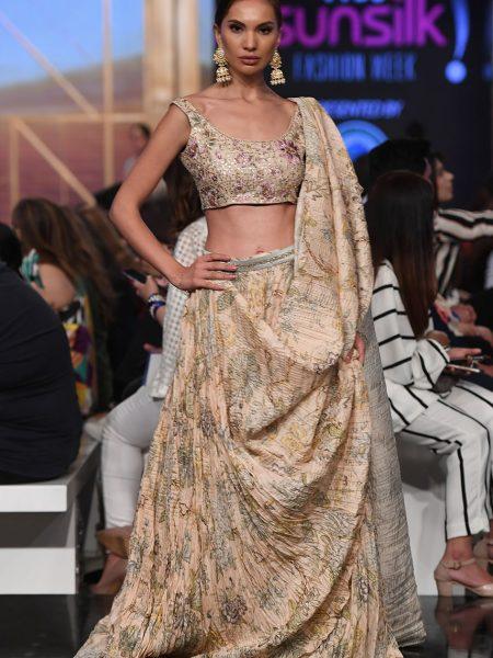 Sania Maskatiya Khadi silk floral choli IS-19-06