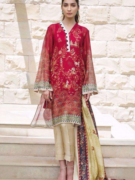 Sania Maskatiya Printed cotton net shirt PD4970