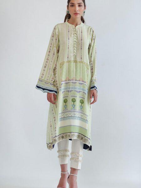 Sania Maskatiya Printed crepe long shirt PD5024