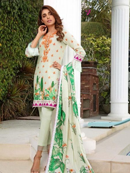 Al-Zohaib CL2-07B Colors Printed Lawn'19 Vol 2