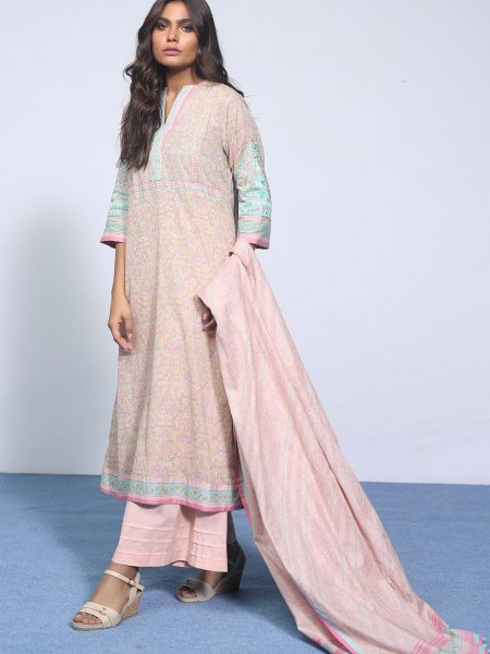 Alkaram Studio Spring Summer Collection 3 Piece Embroidered Suit with Lawn Dupatta SS-5.1-19-2-Pink